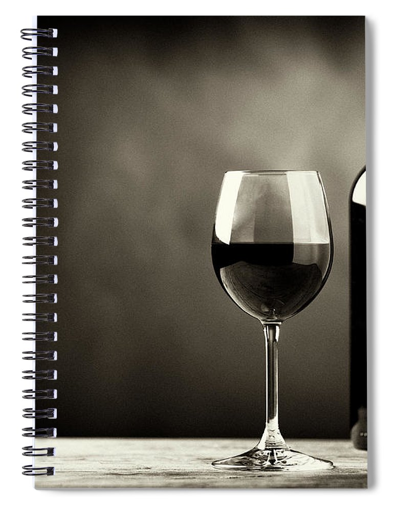 Alcohol Spiral Notebook featuring the photograph Red Wine by Kaisersosa67