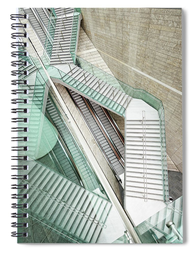 Long Spiral Notebook featuring the photograph Reflected Modern Architecture - Winding by Georgeclerk
