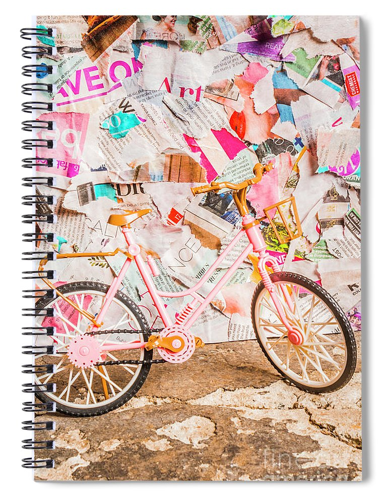 Urban Spiral Notebook featuring the photograph Retro City Cycle by Jorgo Photography - Wall Art Gallery