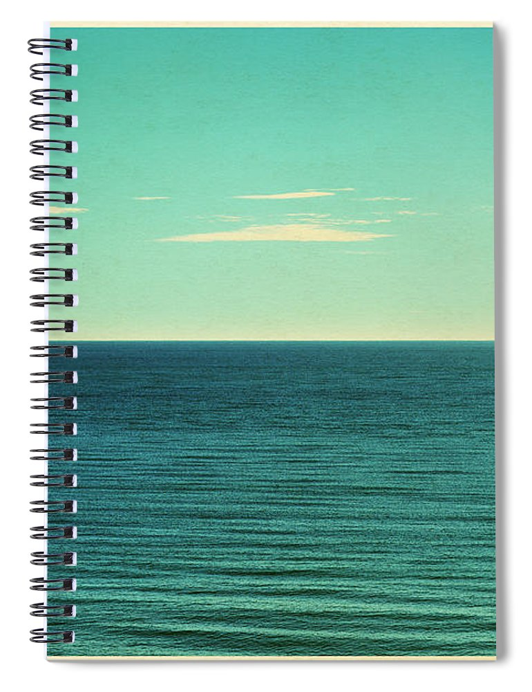 Scenics Spiral Notebook featuring the photograph Retro Seascape Postcard by Farukulay