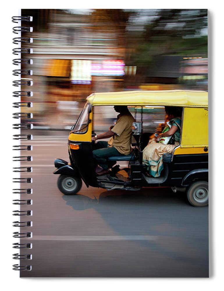 People Spiral Notebook featuring the photograph Rickshaw by Javi Julio Photography