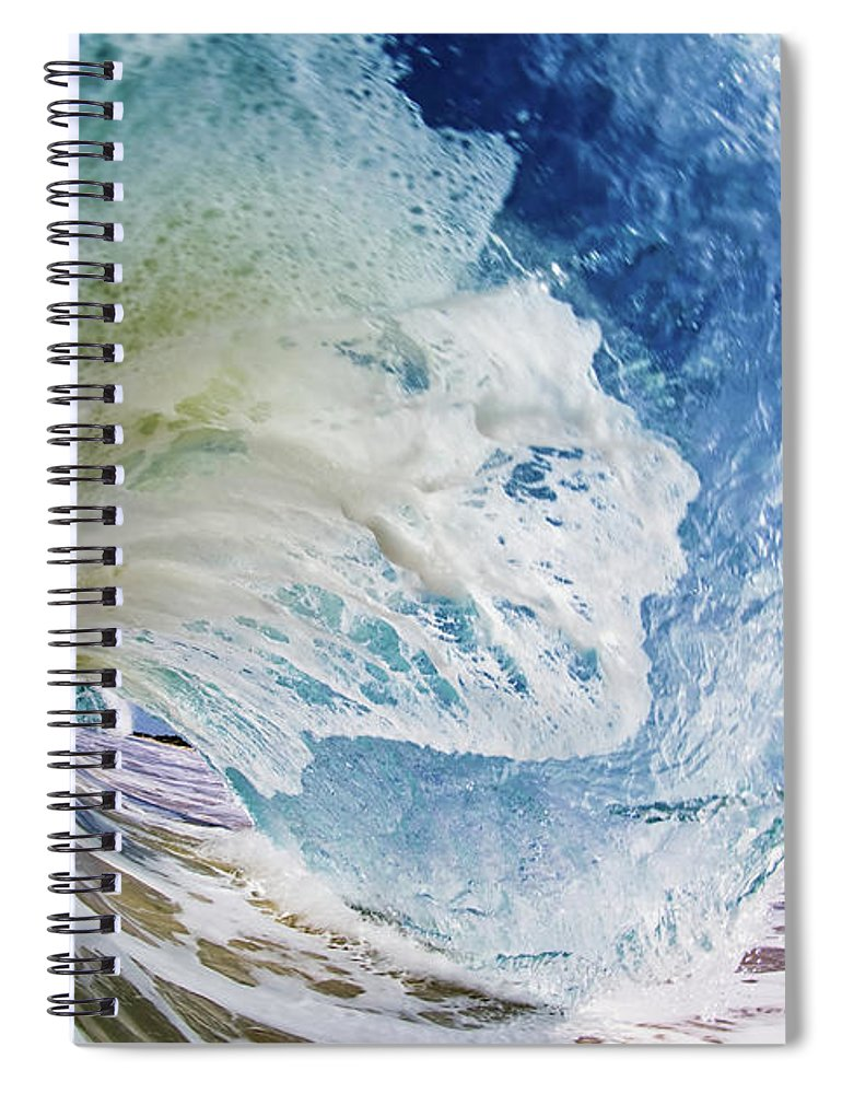 Sky Spiral Notebook featuring the photograph Rinse Cycle by Shannonstent