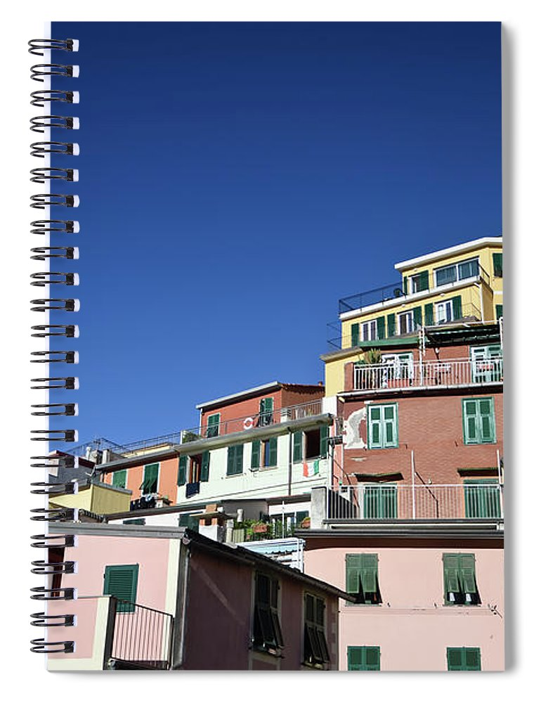 Empty Spiral Notebook featuring the photograph Riomaggiore by Eduleite