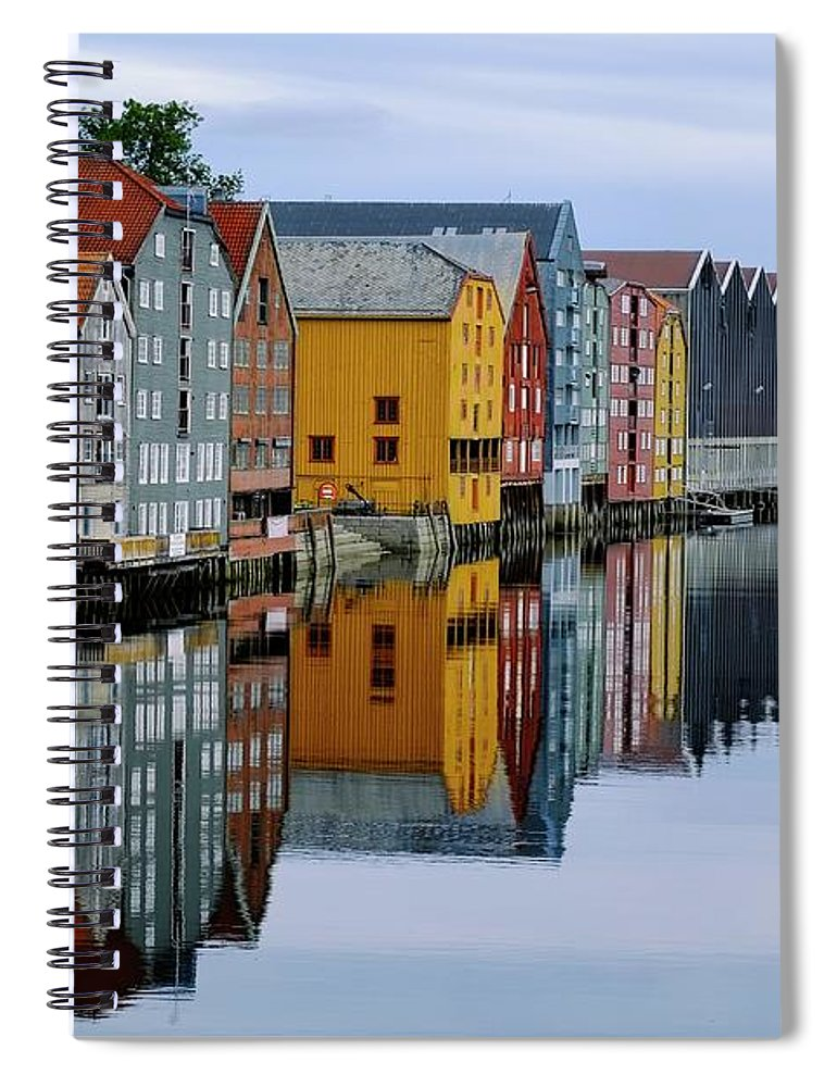 Tranquility Spiral Notebook featuring the photograph River Accommodation 0.2 by Nir Leshem