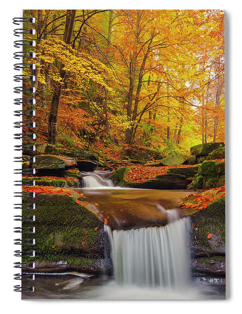 Mountain Spiral Notebook featuring the photograph River Rapid by Evgeni Dinev
