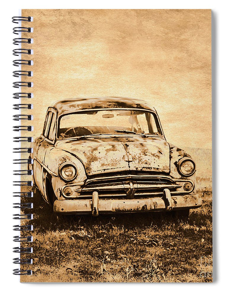 Old Spiral Notebook featuring the photograph Rockabilly Relic by Jorgo Photography - Wall Art Gallery