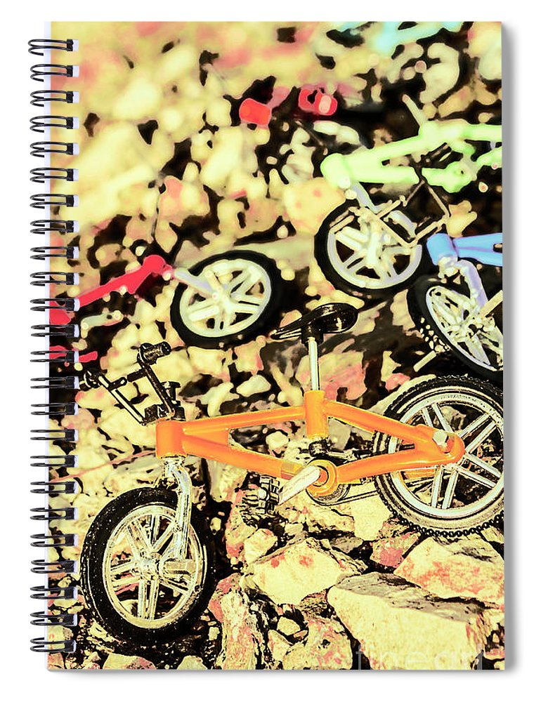 Sport Spiral Notebook featuring the photograph Rocky Racers by Jorgo Photography - Wall Art Gallery