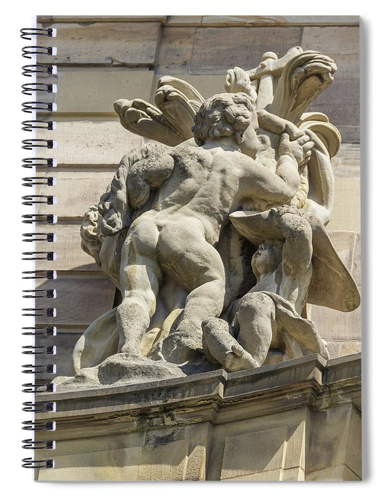 Alsace Spiral Notebook featuring the photograph Rohan Palace Sculpture by Teresa Mucha