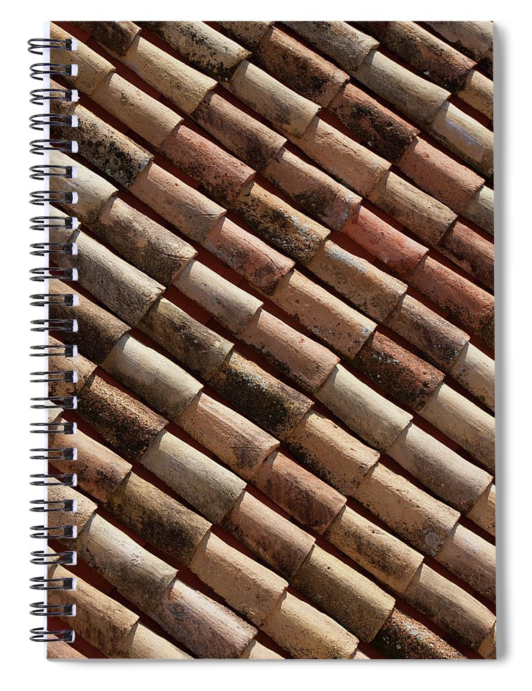 In A Row Spiral Notebook featuring the photograph Rooftop In Dubrovnik Old Town by Martin Child