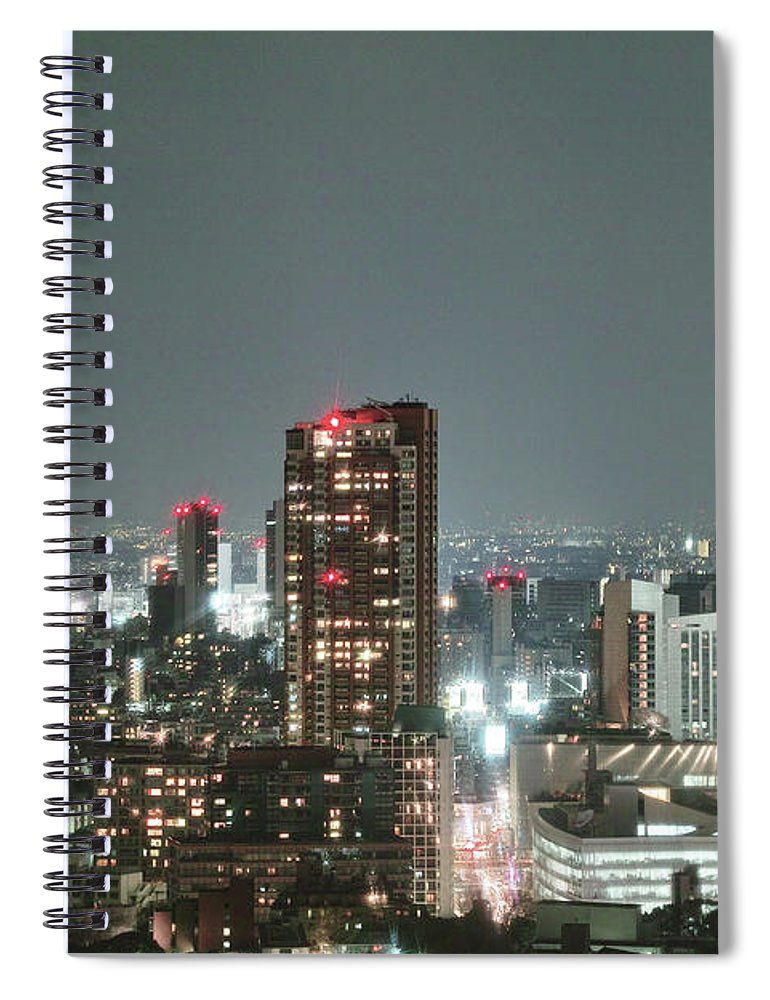 Tokyo Tower Spiral Notebook featuring the photograph Roppongi From Tokyo Tower by Spiraldelight