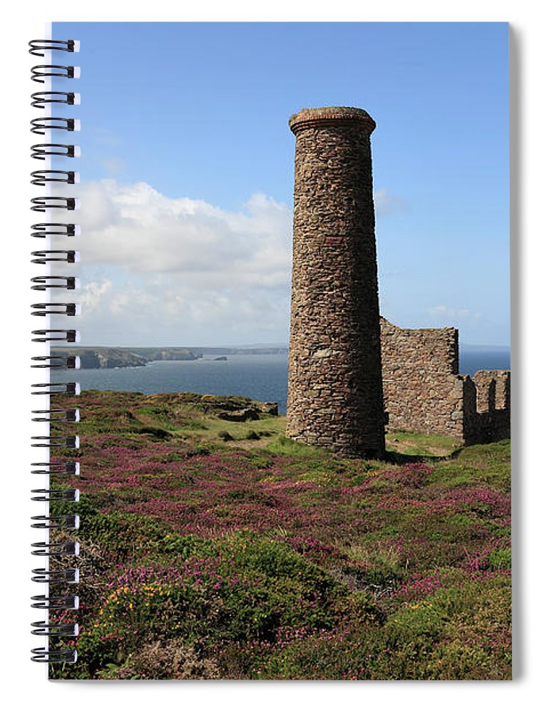 Heather Spiral Notebook featuring the photograph Ruin Of Wheal Coates Tin Mine, Near St by Anthony Collins