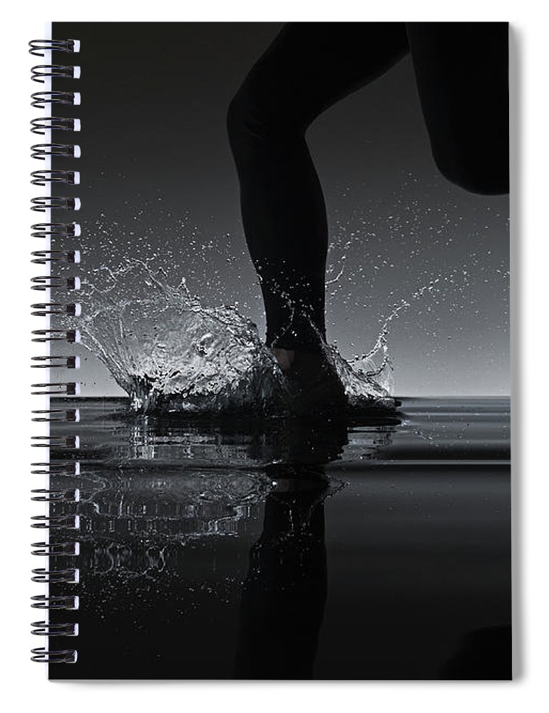 Recreational Pursuit Spiral Notebook featuring the photograph Running Through Water by Jonathan Knowles