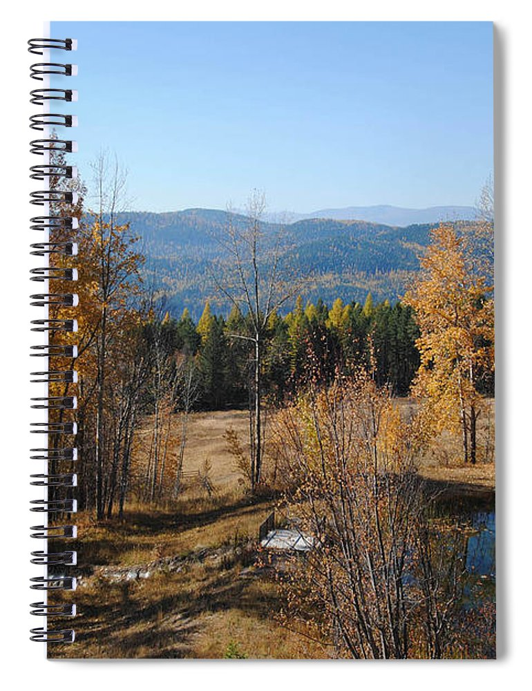 Montana Spiral Notebook featuring the photograph Rural Montana by Vallee Johnson