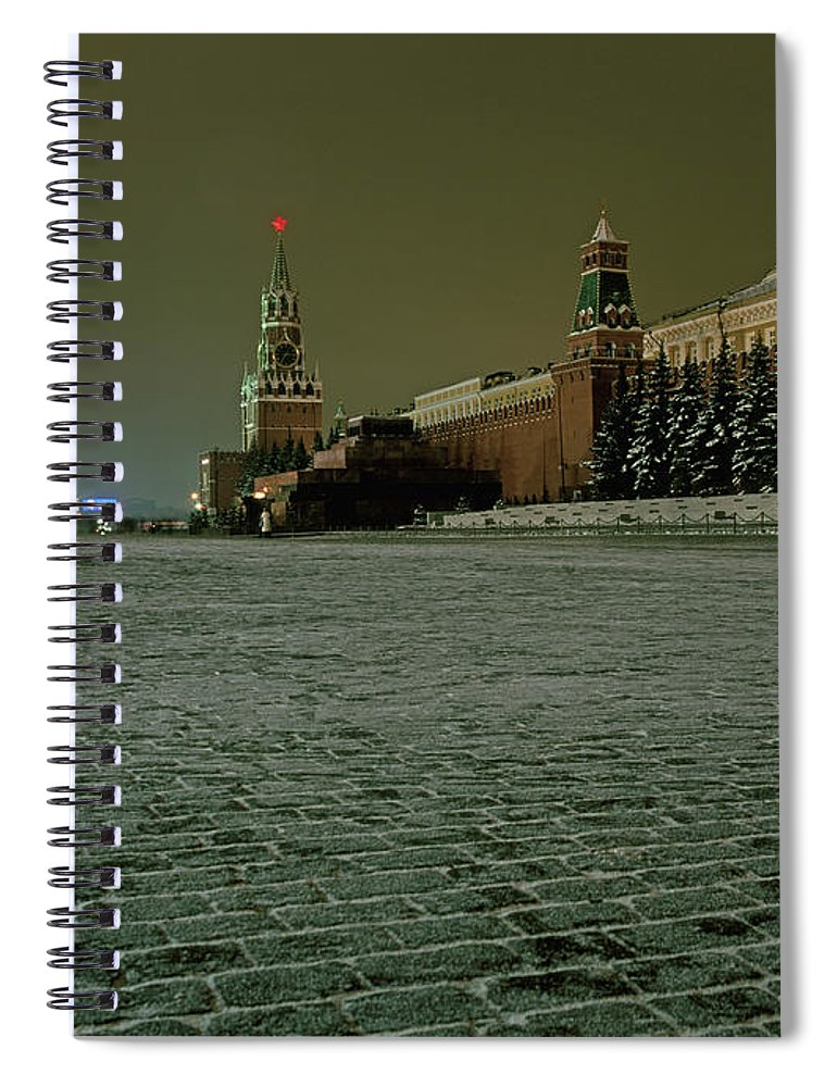 Outdoors Spiral Notebook featuring the photograph Russia, Moscow, Red Square And Kremlin by Hans Neleman