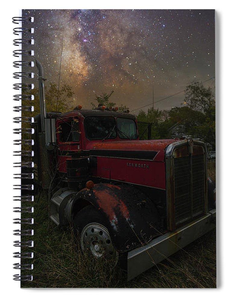 Truck Spiral Notebook featuring the photograph Rusty by Aaron J Groen