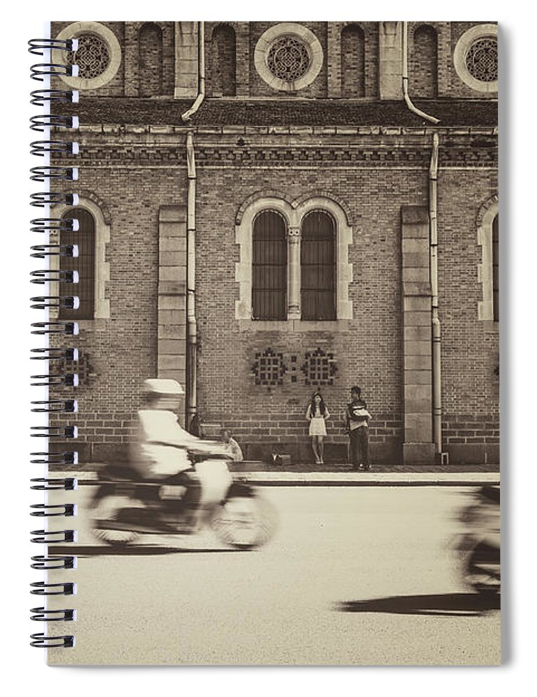Ho Chi Minh City Spiral Notebook featuring the photograph Saigon Old Corner by Jethuynh