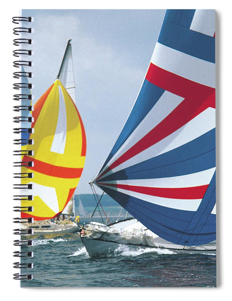 Wind Spiral Notebook featuring the photograph Sailing Race by John Foxx