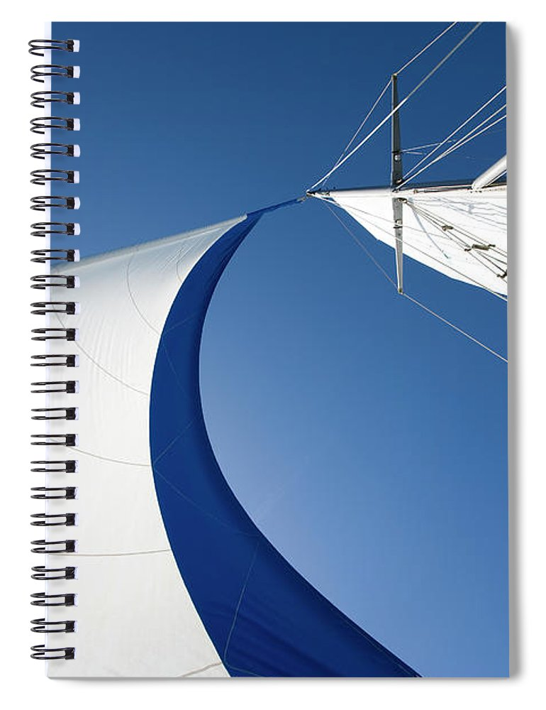 Curve Spiral Notebook featuring the photograph Sailing by Tammy616