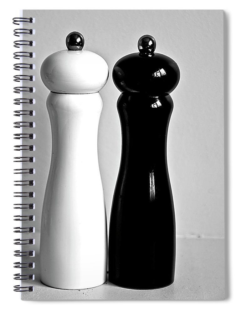 Black Color Spiral Notebook featuring the photograph Salt & Pepper by Daniela White Images