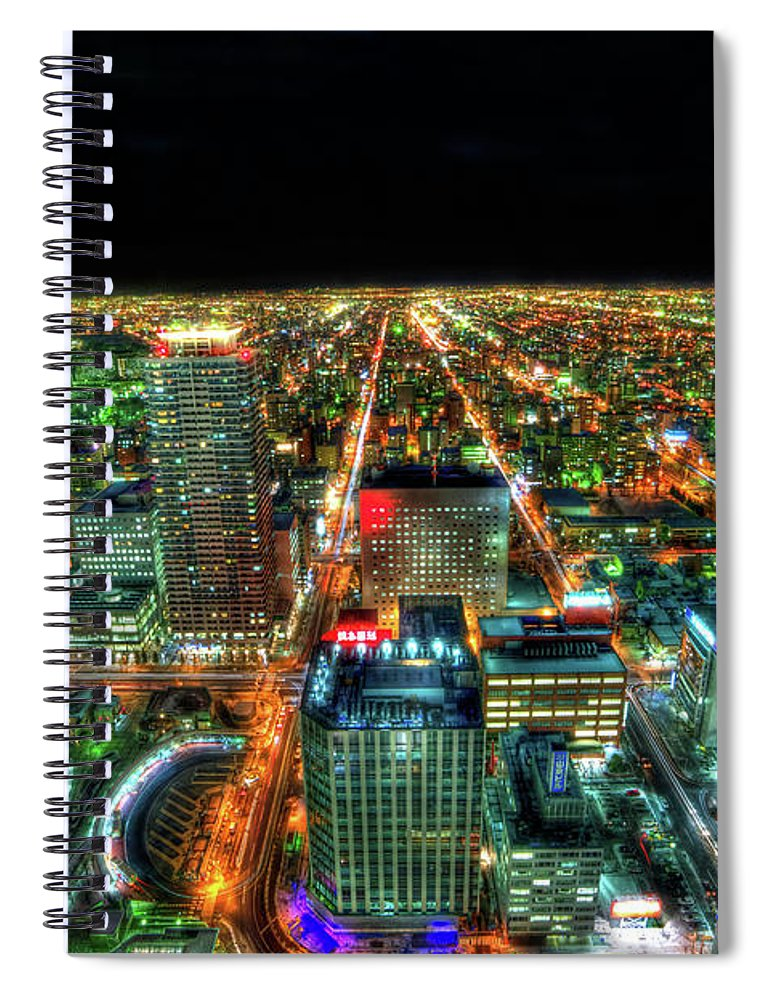 Outdoors Spiral Notebook featuring the photograph Sapporo by Photography By Eydie Wong