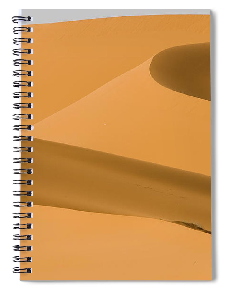 Scenics Spiral Notebook featuring the photograph Saudi Sand Dune by Universal Stopping Point Photography