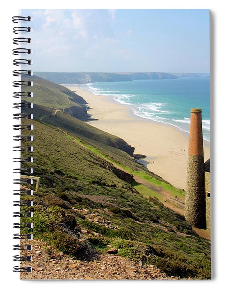 Water's Edge Spiral Notebook featuring the photograph Scenic Cornwall - St Agnes Head by Chrisat