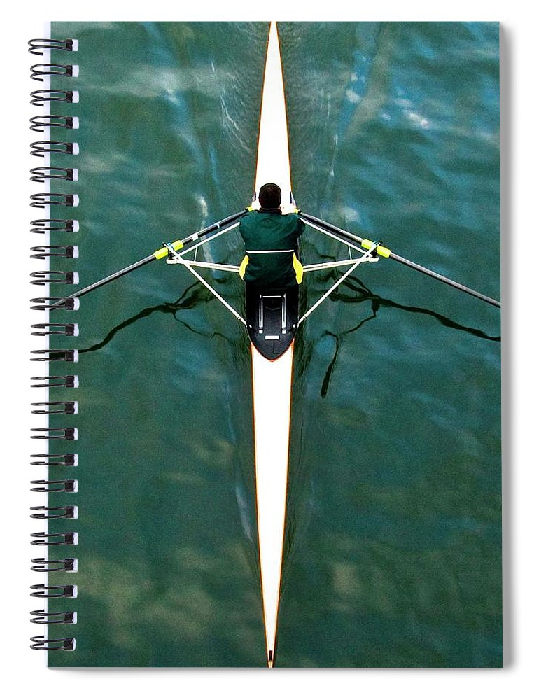 People Spiral Notebook featuring the photograph Scull by Gerard Hermand