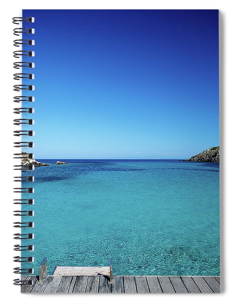 Scenics Spiral Notebook featuring the photograph Sea by Cactusoup