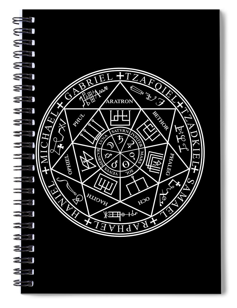Seals Of The Seven Archangels Spiral Notebook