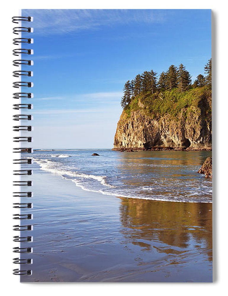 Scenics Spiral Notebook featuring the photograph Second Beach On The Olympic Peninsula by Sara winter