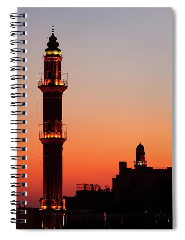 Built Structure Spiral Notebook featuring the photograph Sehidiye Mosque Minaret by Wu Swee Ong