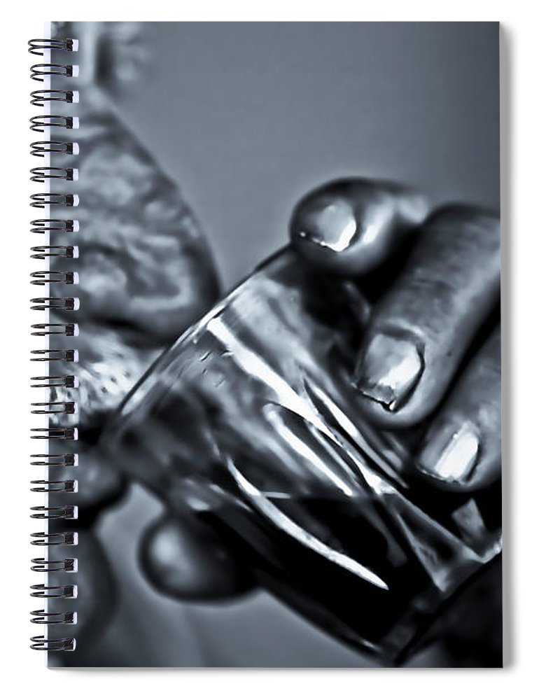 People Spiral Notebook featuring the photograph Senior Man Drinking Wine by Nasos Zovoilis
