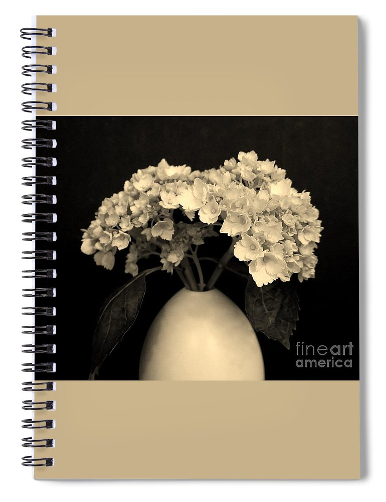 Photo Spiral Notebook featuring the photograph Sepia Dainties by Marsha Heiken