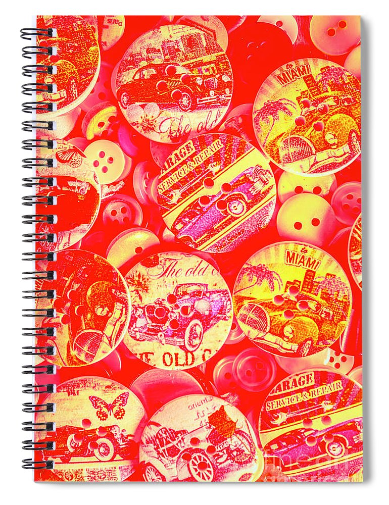 Red Spiral Notebook featuring the photograph Service And Repair by Jorgo Photography - Wall Art Gallery