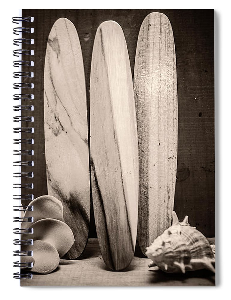 Vintage Spiral Notebook featuring the photograph Seventies Surfing by Jorgo Photography - Wall Art Gallery