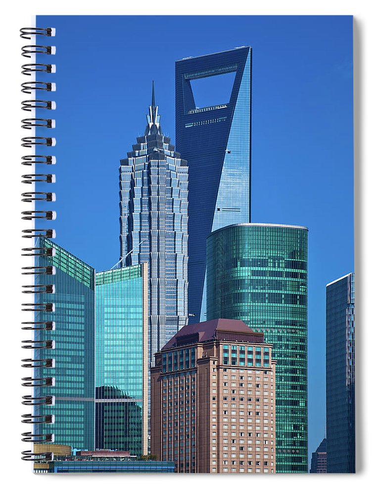 Chinese Culture Spiral Notebook featuring the photograph Shanghai Landmark Building by Ithinksky