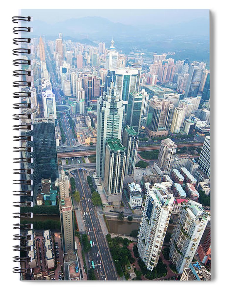 Chinese Culture Spiral Notebook featuring the photograph Shenzhen, China by Nikada