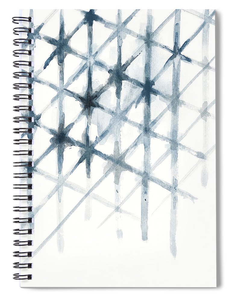 Shibori Spiral Notebook featuring the mixed media Shibori by Patricia Pinto