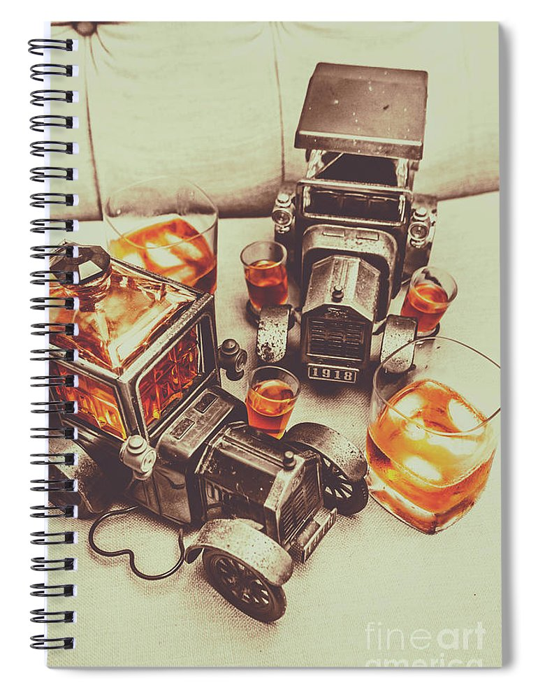 Whiskey Spiral Notebook featuring the photograph Shooting Through by Jorgo Photography - Wall Art Gallery