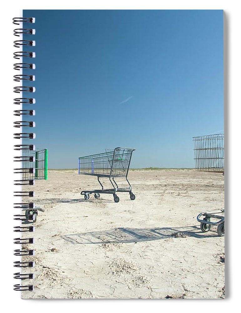 Scenics Spiral Notebook featuring the photograph Shopping Carts In Rural,barren by Pete Starman