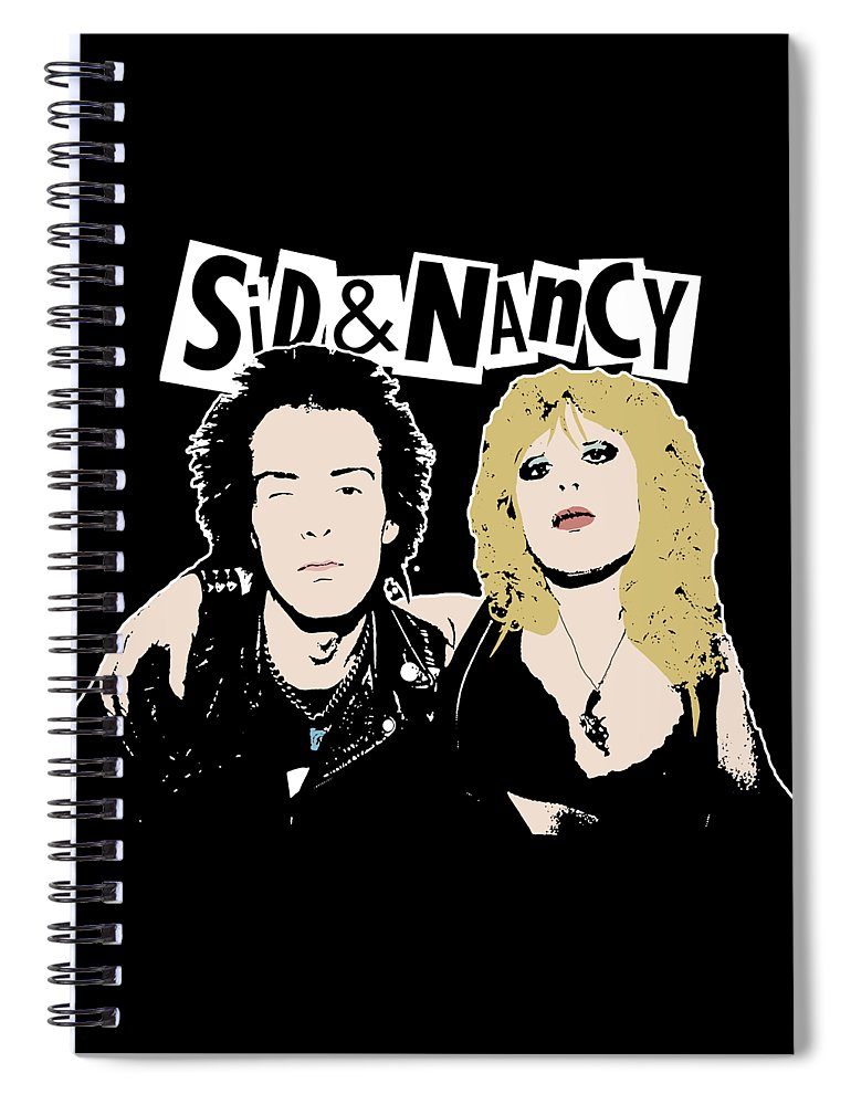 Sid And Nancy Spiral Notebook featuring the digital art Sid And Nancy by Valentina Hramov