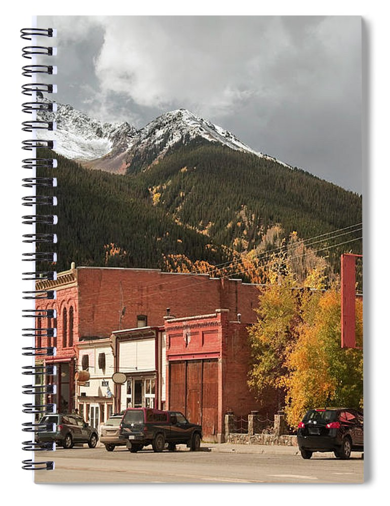 San Juan Mountains Spiral Notebook featuring the photograph Silverton, Colorado by Missing35mm