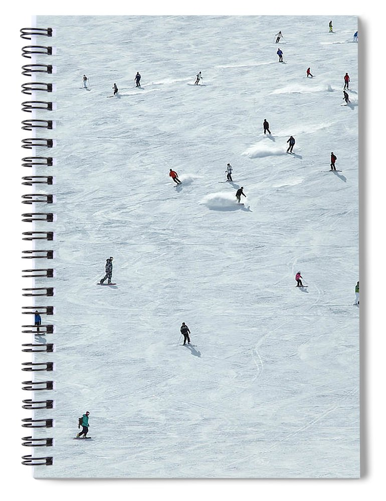 Skiing Spiral Notebook featuring the photograph Skiing In Mayrhofen Austria by Mike Harrington