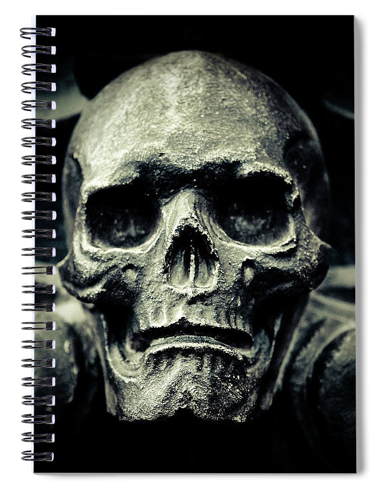 Gothic Style Spiral Notebook featuring the photograph Skull by Thepalmer