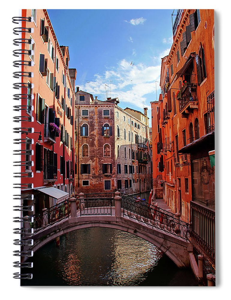 Arch Spiral Notebook featuring the photograph Small Canals In Venice Italy by Totororo