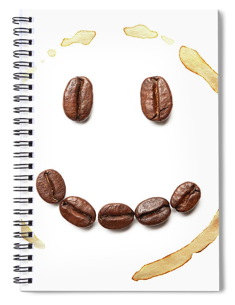 Spray Spiral Notebook featuring the photograph Smile Coffee Beans by T kimura
