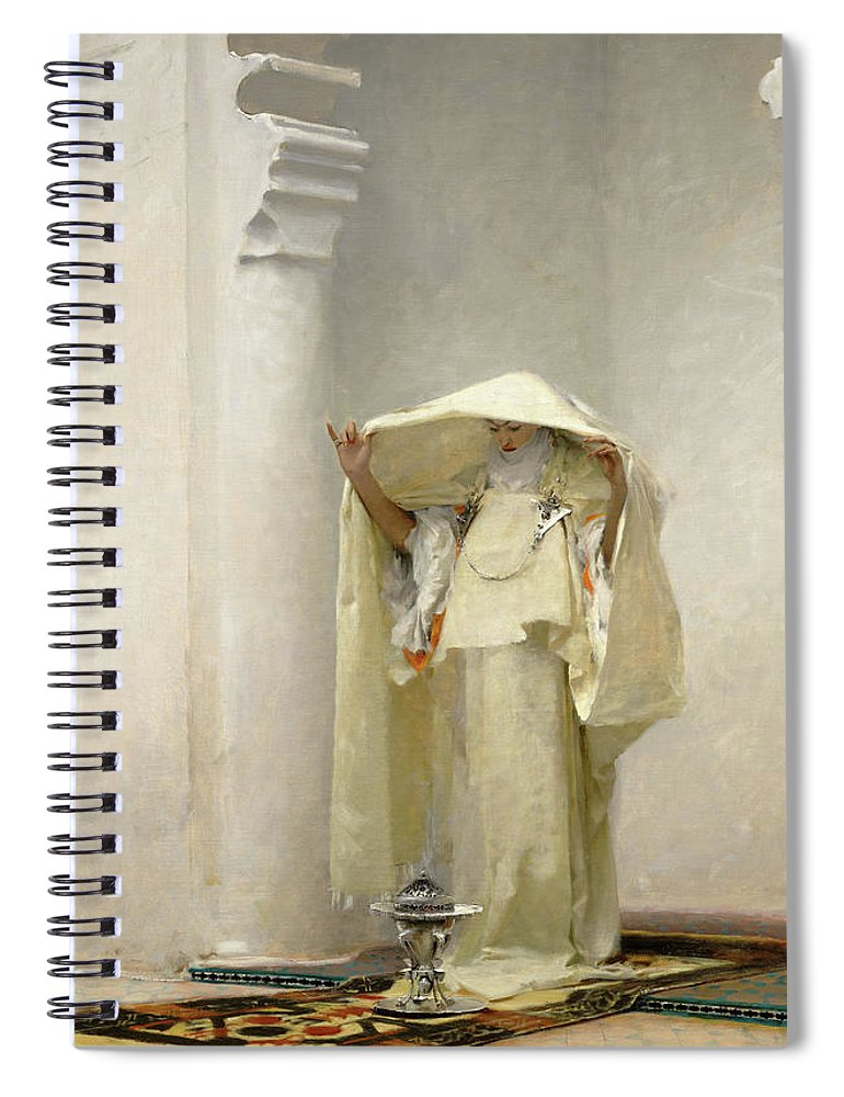 John Singer Sargent Spiral Notebook featuring the painting Smoke of Ambergris by John Singer Sargent
