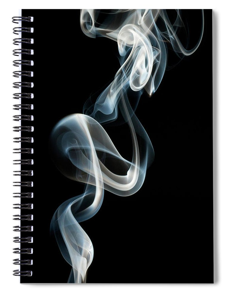 Black Background Spiral Notebook featuring the photograph Smoke by Vando Nascimento