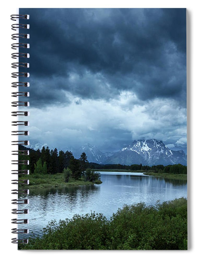 Tranquility Spiral Notebook featuring the photograph Snake River by Xavier Arnau Serrat
