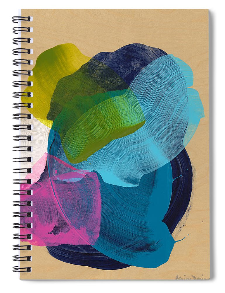 Abstract Spiral Notebook featuring the painting Socal 02 by Claire Desjardins